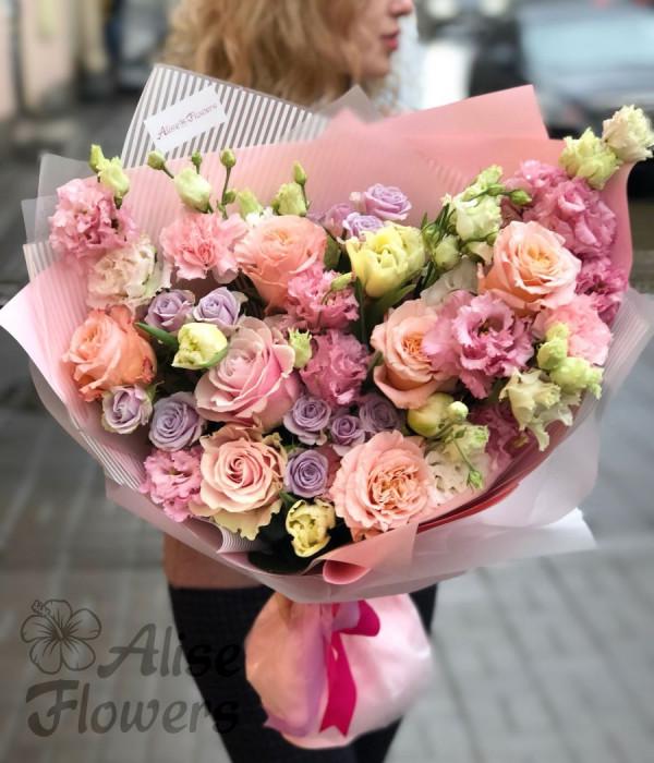 заказать Букет в розовых тонах в Петербурге