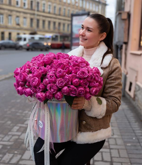 заказать Композиция розы пионовидные в Петербурге