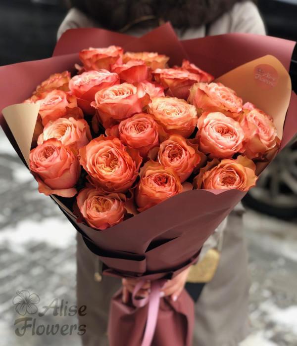 заказать Букет из роз Кахала 25 шт в Петербурге