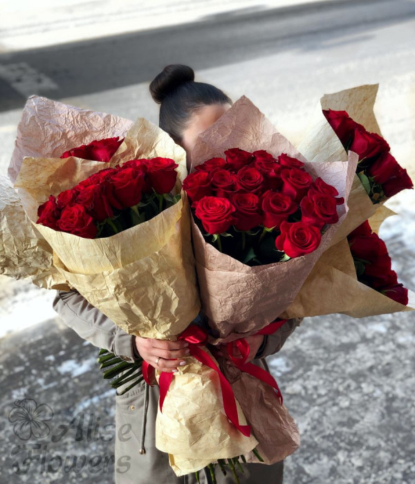 """заказать Букет из розы """"Freedom"""" в Петербурге"""