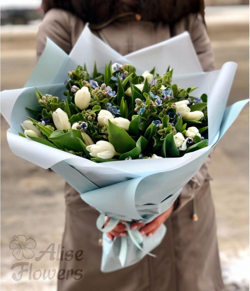 """заказать Букет из тюльпанов """"Воздушный"""" в Петербурге"""