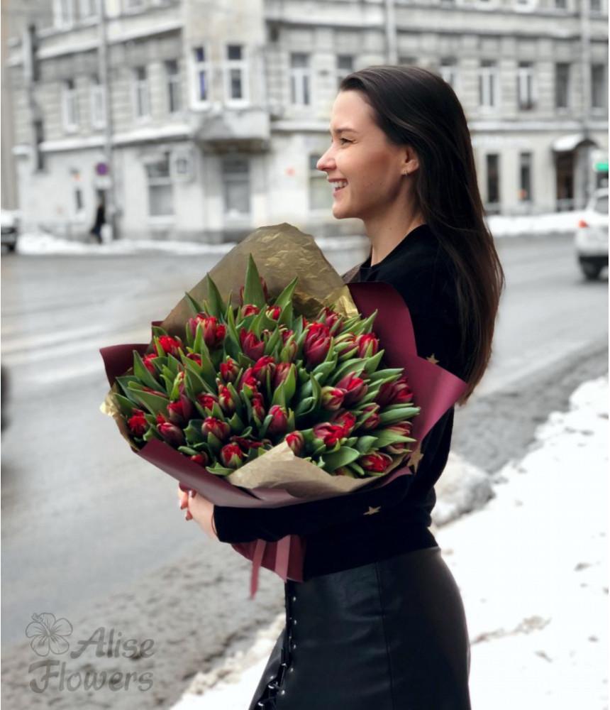 заказать Букет из Тюльпанов в Петербурге