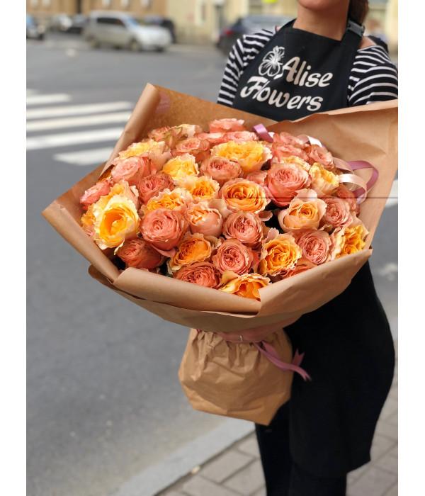 заказать Букет из роз Кахала и Шиммер в Петербурге