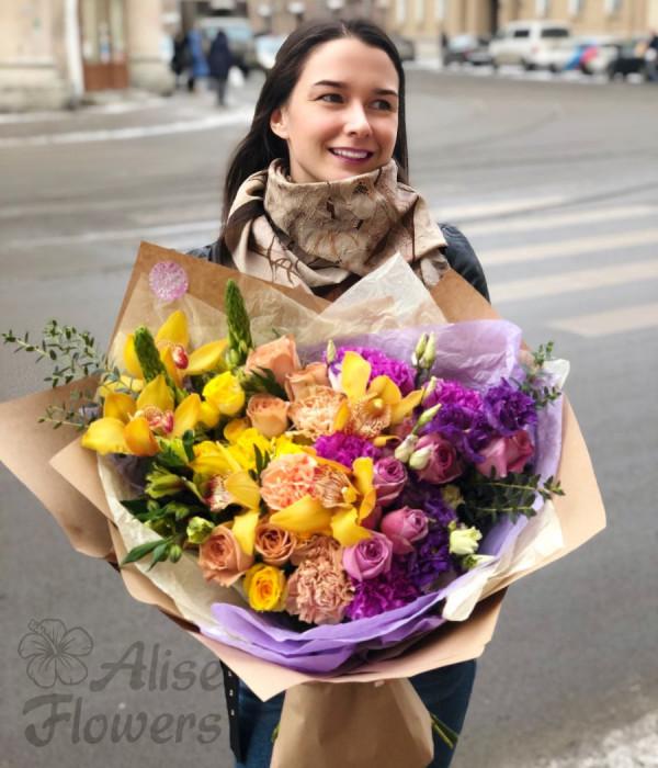 заказать Букет Градиент в Петербурге