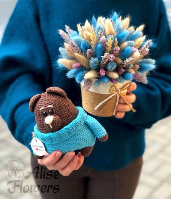 заказать Букет из сухоцветов нежный в Петербурге