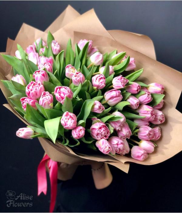 заказать Букет пионовидных тюльпанов в Петербурге