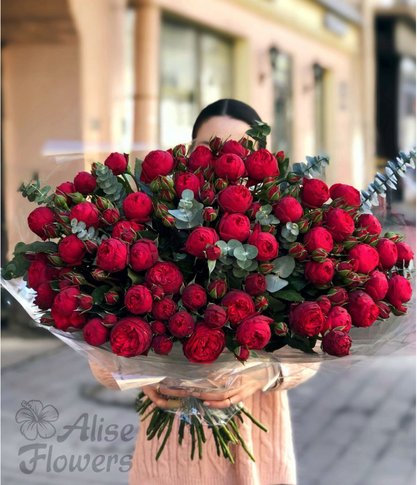 Букет роз огромный