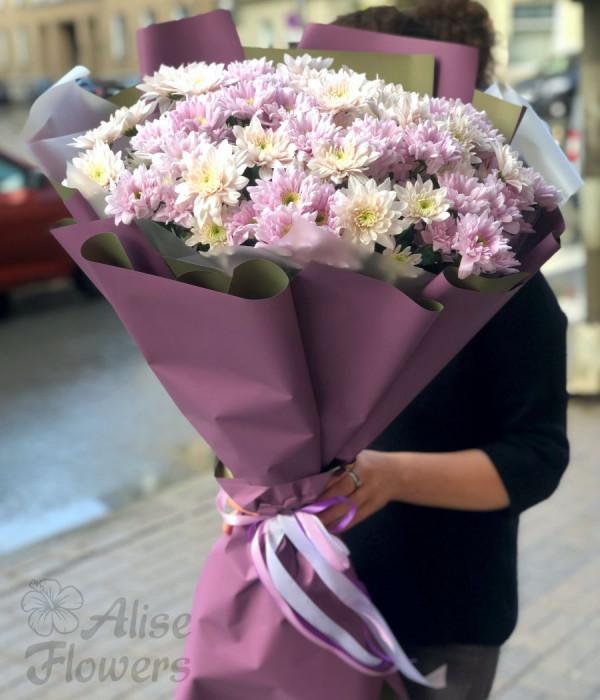 заказать Букет из хризантемы нежный в Петербурге
