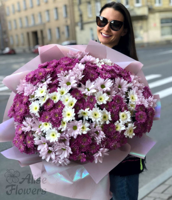 заказать Букет Хризантемы в Петербурге