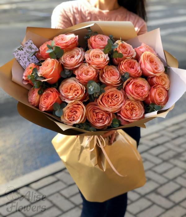 заказать Букет из розы Кахала в Петербурге