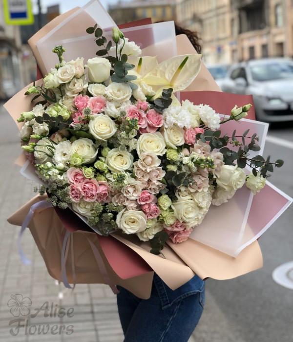 заказать Букет из розы Летний в Петербурге