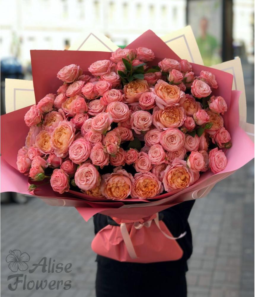 заказать Букет из розовых роз в Петербурге