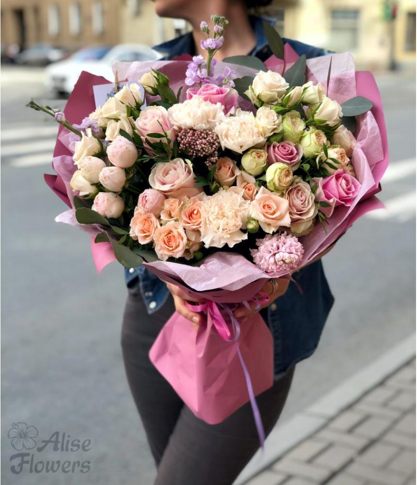 заказать Букет 3 вида роз в Петербурге