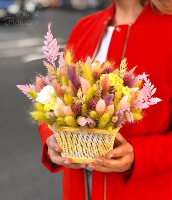 заказать Композиция из сухоцветов в Петербурге