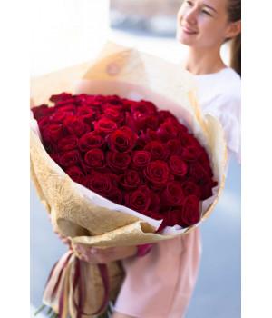 """Букет из 51 розы """"Freedom"""" (Крупный бутон)"""