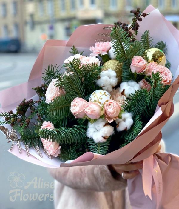 заказать Новогодний букет в Петербурге